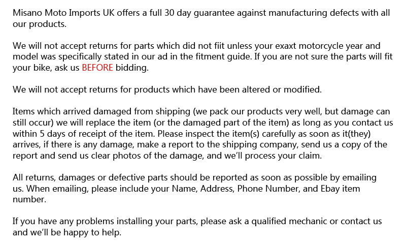 returns policy template - gold reflective adhesive heat shield material for suzuki