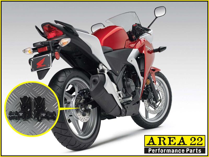 Red Area 22 Kawasaki Z125 Z 125 Pro Z125 Swingarm Spool Adapters Mounts