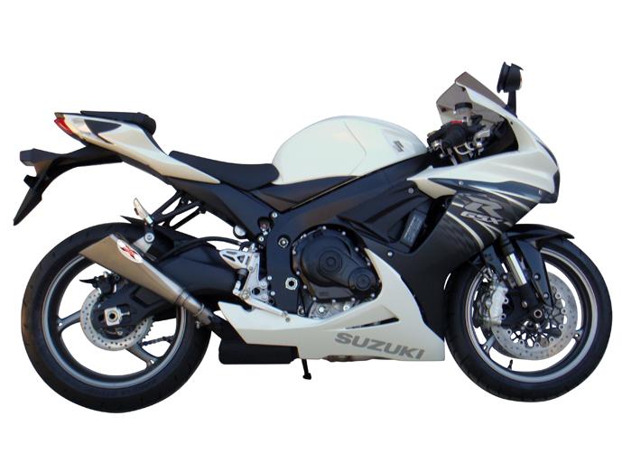 suzuki gsx r 750 2011 2012 ixil x55 slip on exhaust slash cut stainless gsxr750