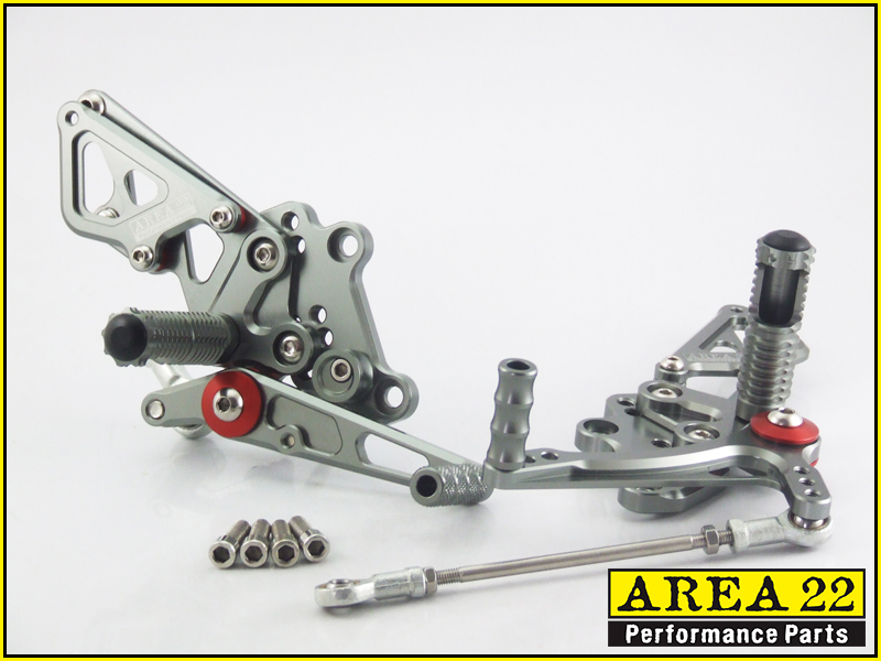 For Kawasaki ZX10R 2011 2012 2013 2014 CNC Adjustable Rear Sets Foot Pegs Grey