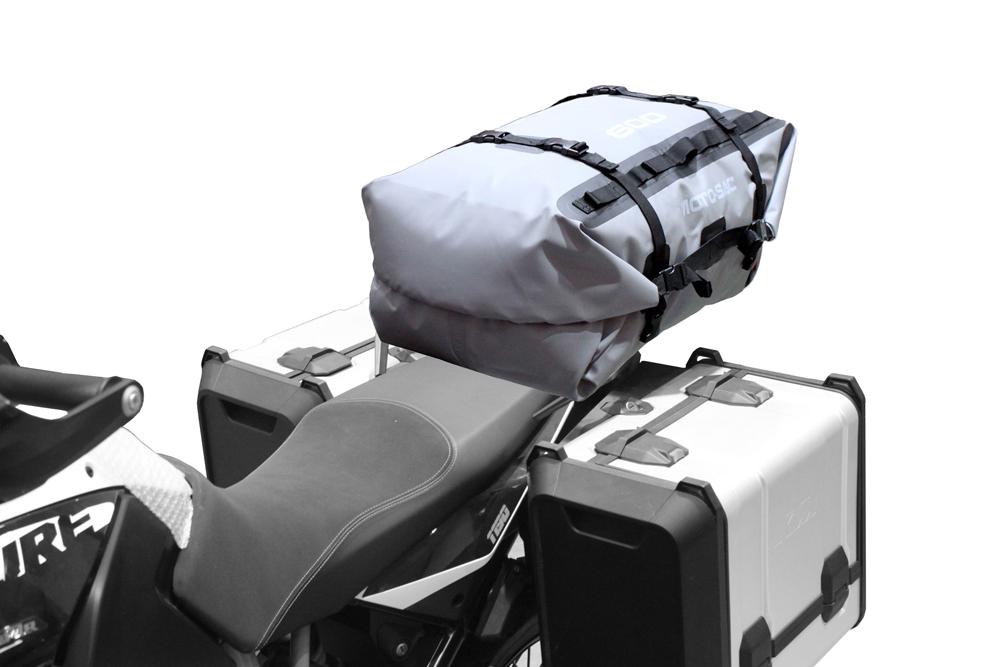 moto sac universell koffer 60l heck trocken tasche grau. Black Bedroom Furniture Sets. Home Design Ideas