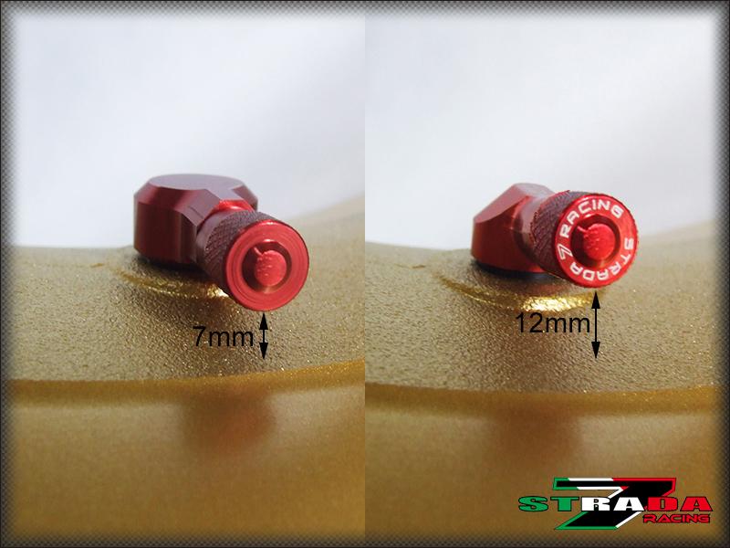 """Strada 7 83 Degree 11.3mm 0.445/"""" inch CNC Valve Stems Suzuki GSXR1000 Black"""