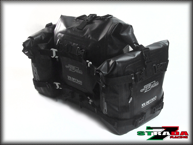 d828f2117f62 Strada 7 Motorcycle 40L Combo Dry Duffle Rear Tail Bag BMW R1200GS ...