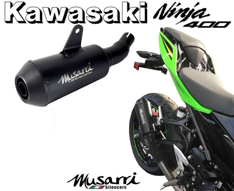 Musarri GP Street Series Slip on Exhaust Kawasaki Ninja 300R Z300 2013-2018
