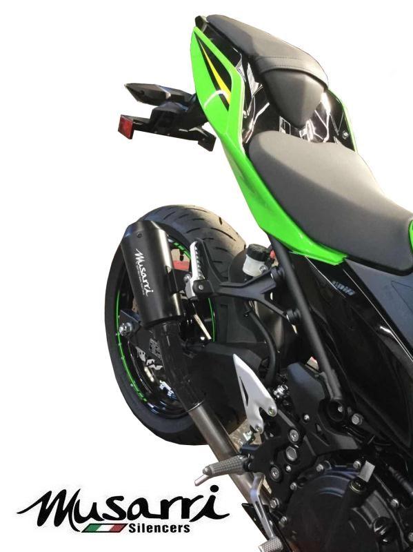 Black Musarri GP Street Series Slip-on Exhaust Kawasaki Ninja 400 SE